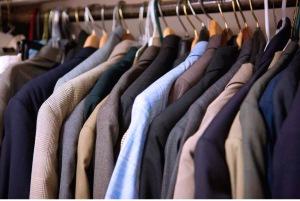 The work clothing closet at the IRC.