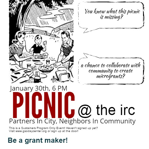IRC Sustainer's Only Party: PICNIC. Friday, January 30th, 2015